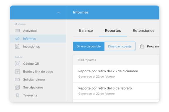 Cómo generar reportes desde tu cuenta de Mercado Pago