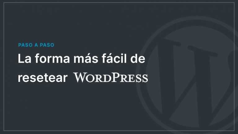 reseter wordpress