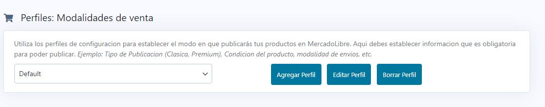 creacion de perfiles de venta en woosync
