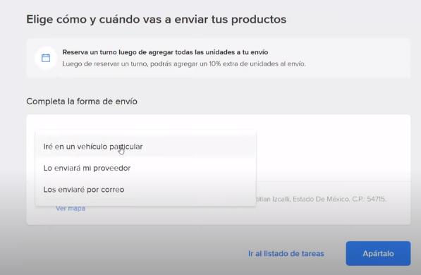 elige como vas a enviar tus productos woosync